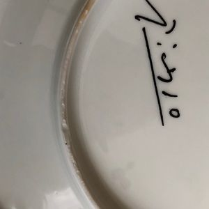 Limoges Accents - Limoges France Dove Face White Black Plate Picasso